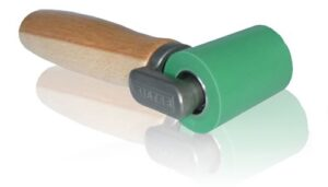 Leister silicone pressure roller wooden handle plastic welding