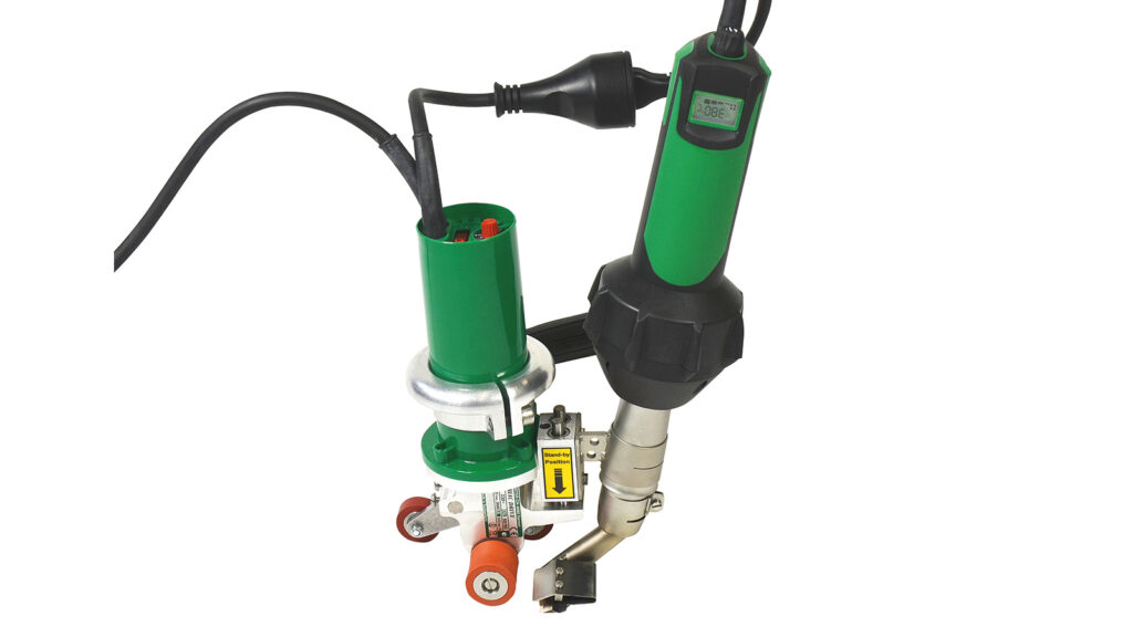 Leister triac drive hot air plastic welder for roofing membranes water proofing cafe awning