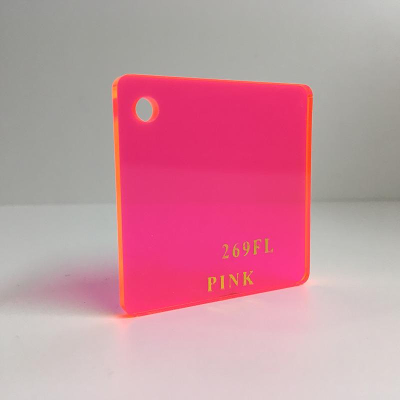 pink fluro tint Acrylic Sheet 269FL plexiglas clear fluro pink perspex wholesale plastic