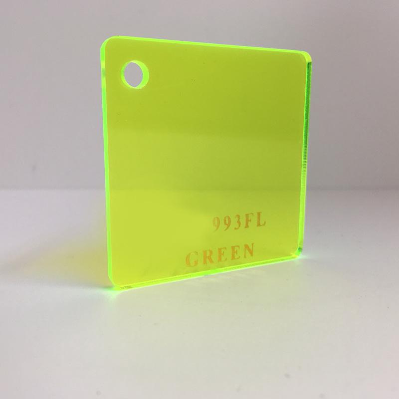green yellow fluro tint Acrylic Sheet 993FL plexiglas clear fluro green yellow perspex wholesale plastic
