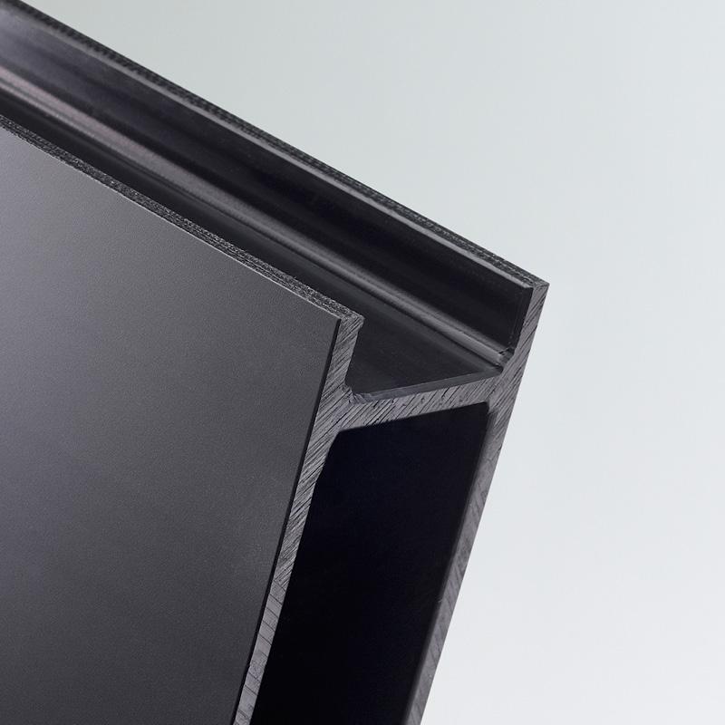 twinwall hdpe sheet black high density polyethylene palentim polystone 300