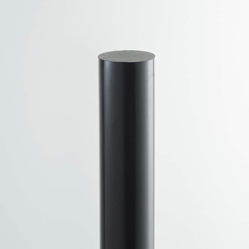 black UHMWPE rod ultra high molecular weight polyethylene rod simona tivar tufclad matrox qucksilver