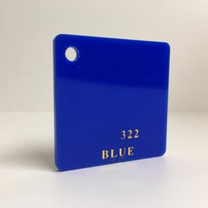 blue Acrylic Sheet 322 plexiglas blue perspex wholesale plastic
