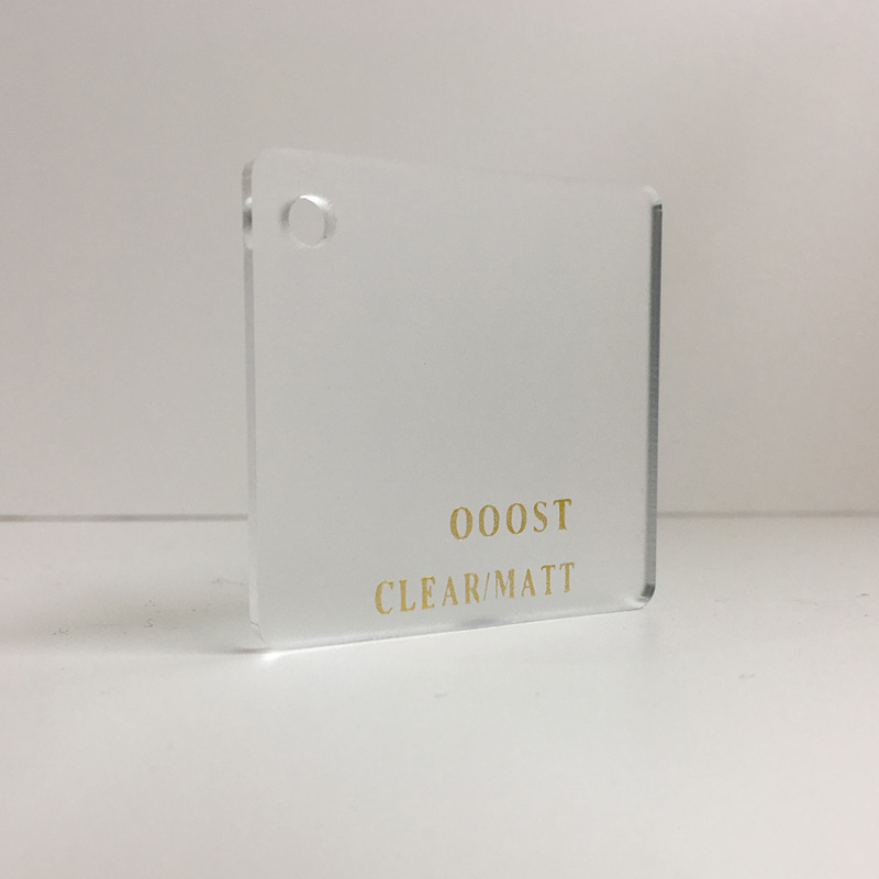 Clear satin frosted acrylic sheet 000ST matte finish perspex plexiglas acrylic