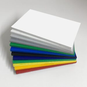 Foamed pvc coloured foam board swatch colours wholesale buy online also known as celuka board kycel nycel simopor nanya foamex palight