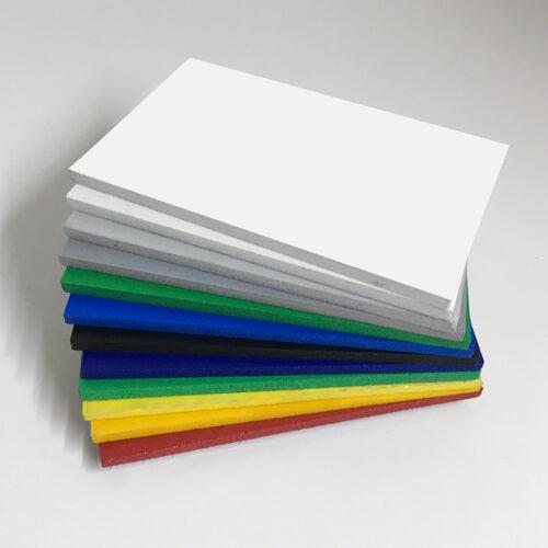 Foamed pvc coloured foam board swatch colours wholesale buy online also known as celuka board kycel nycel simopor nanya foamex palight