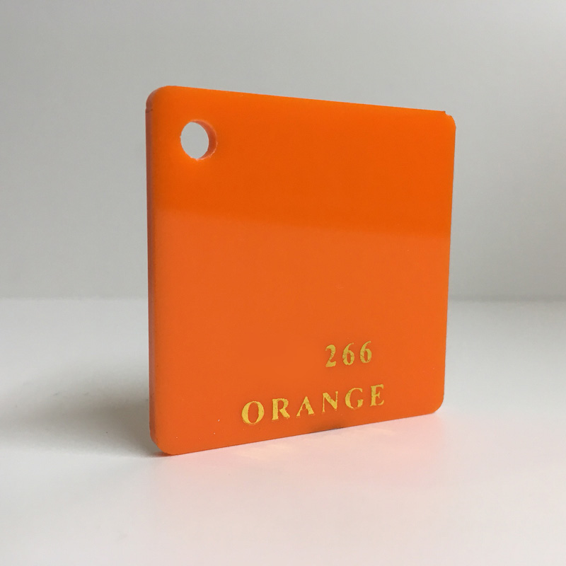 orange Acrylic Sheet 266 plexiglas orange perspex wholesale plastic