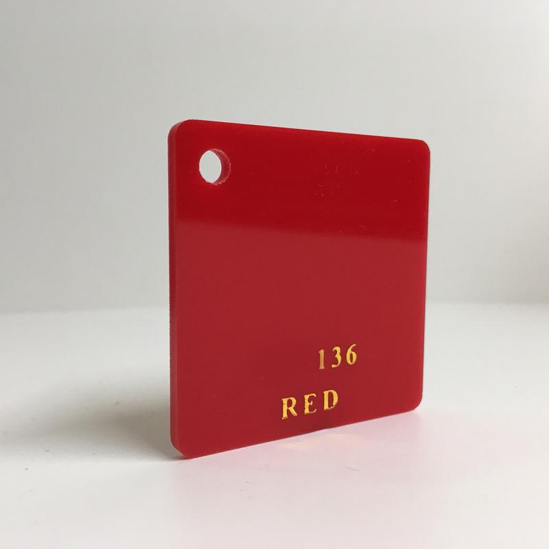 Red Acrylic Sheet plexiglas red perspex wholesale plastic