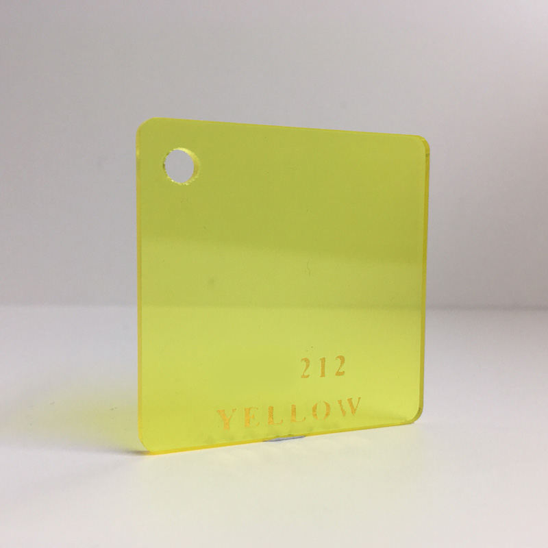 yellow tint Acrylic Sheet 212 plexiglas clear yellow perspex wholesale plastic