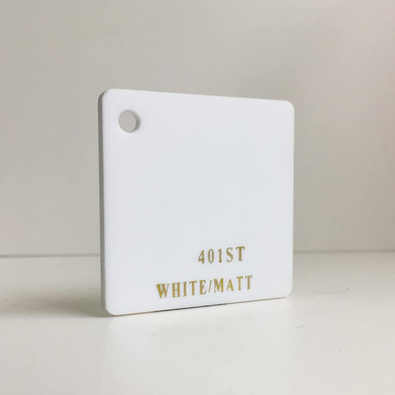 White satin frosted acrylic sheet 401ST matte finish perspex plexiglas acrylic