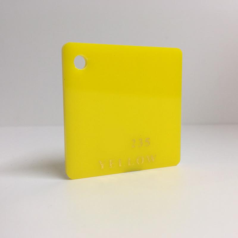 Light yellow Acrylic Sheet 235 plexiglas light yellow perspex wholesale plastic