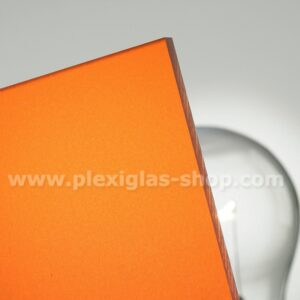 Plexiglas satinice amber orange frosted perspex sheet matte finish