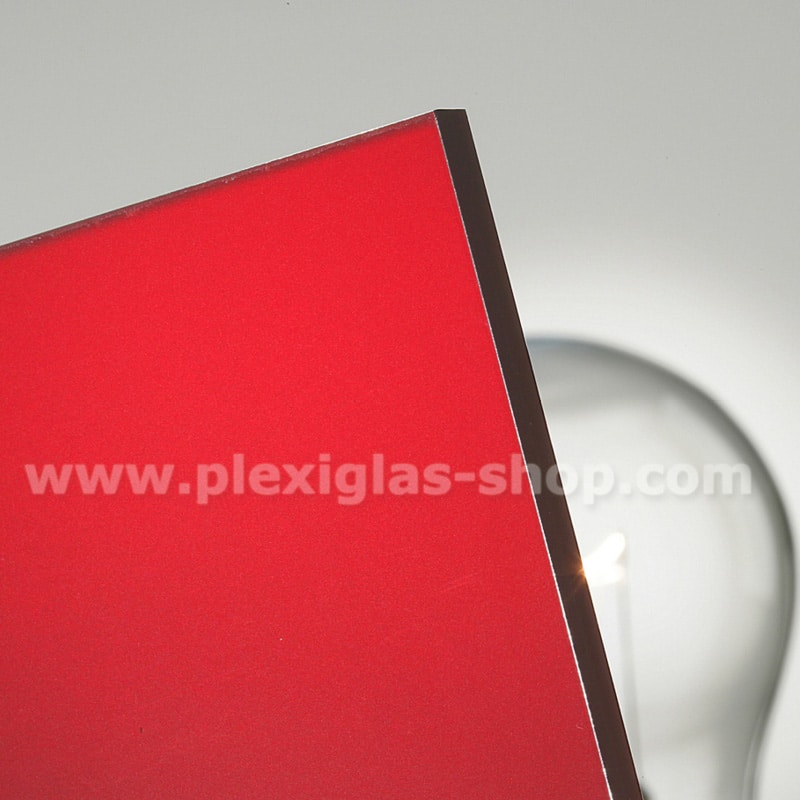 Plexiglas satinice bright red frosted perspex sheet matte finish