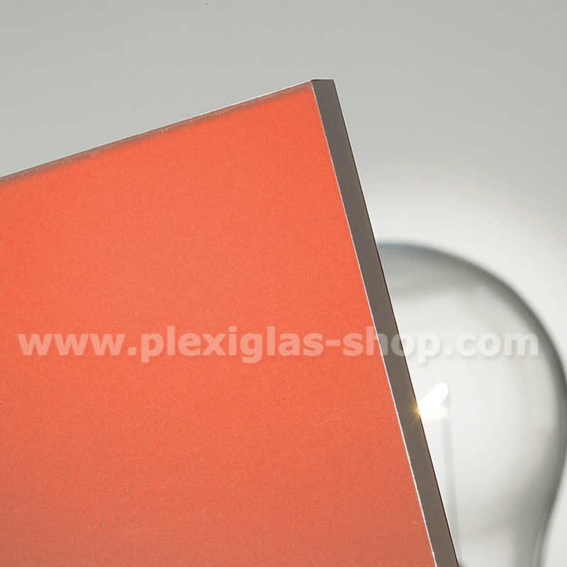 Plexiglas satinice chili red frosted perspex sheet matte finish