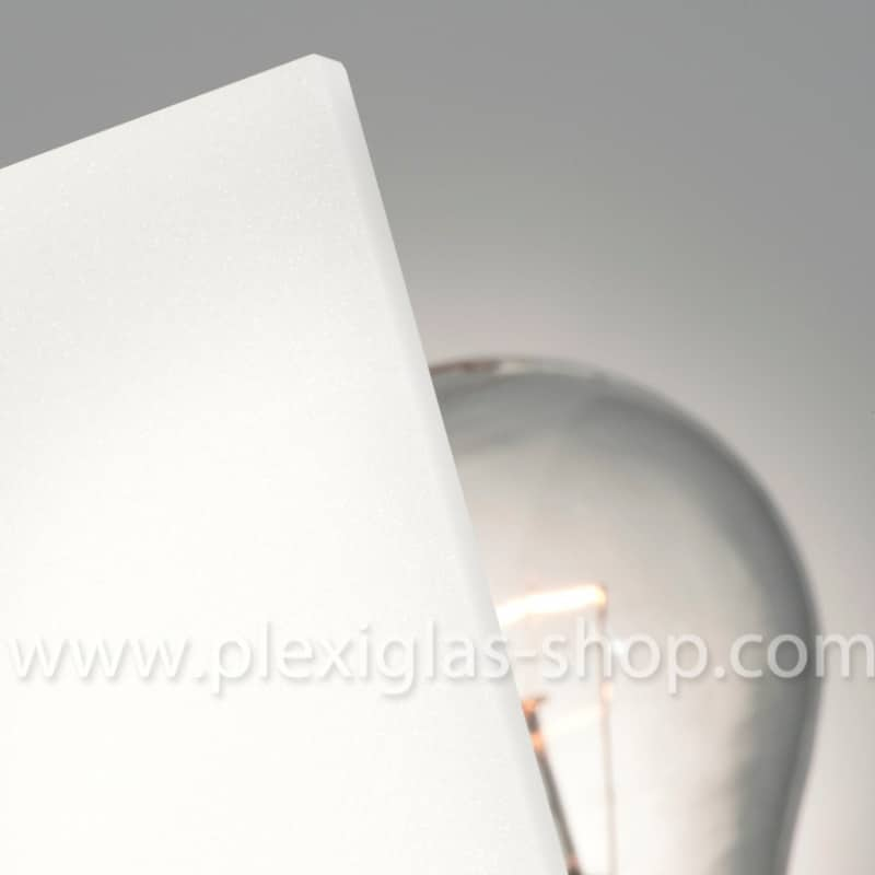 Plexiglas satinice coconut opaque white frosted perspex sheet matte finish