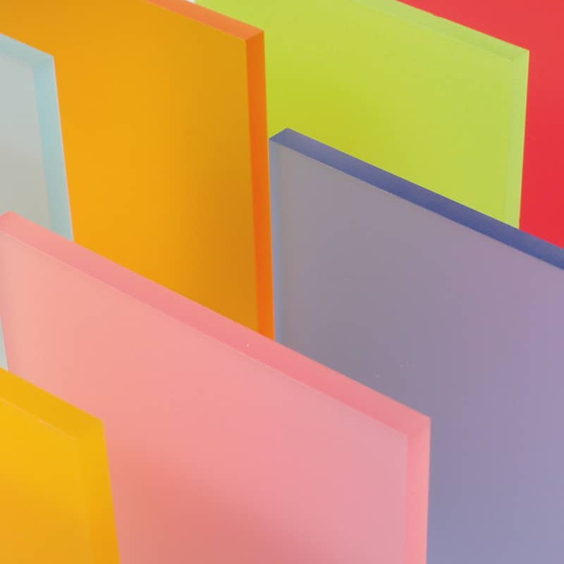 Plexiglas Satinice Colour Pallet Matte Finish Satin Acrylic Colours