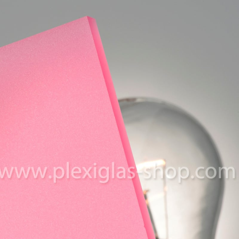 Plexiglas satinice lollipop pink frosted perspex sheet matte finish