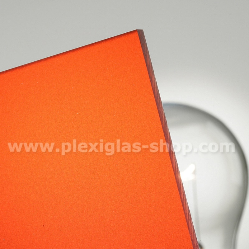 Plexiglas satinice orange frosted perspex sheet matte finish