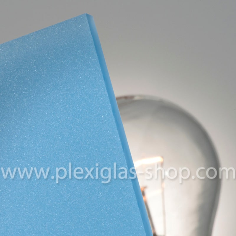 Plexiglas satinice pacific blue frosted perspex sheet matte finish