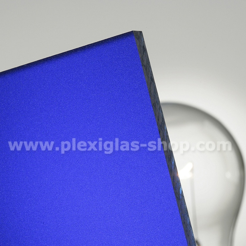 Plexiglas satinice sky blue frosted perspex sheet matte finish