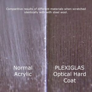 scratch resistant acrylic plexiglas optical hard coated perspex comparison