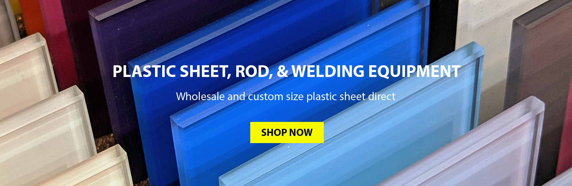 Plastic Warehouse, plastic sheet, rod and welding products direct. Wholesale and customer size plastics